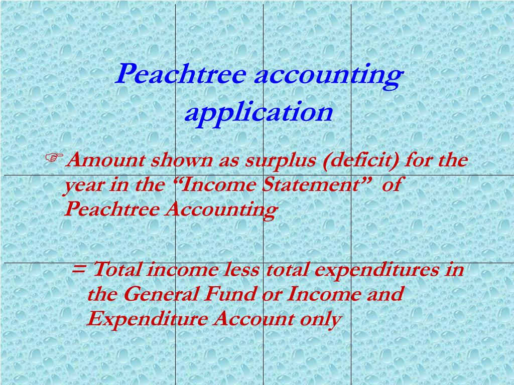 Peachtree accounting application