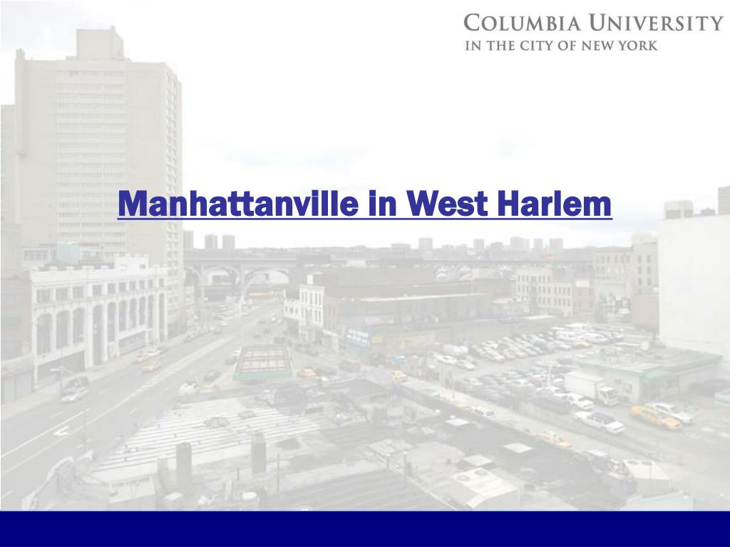 Manhattanville in West Harlem