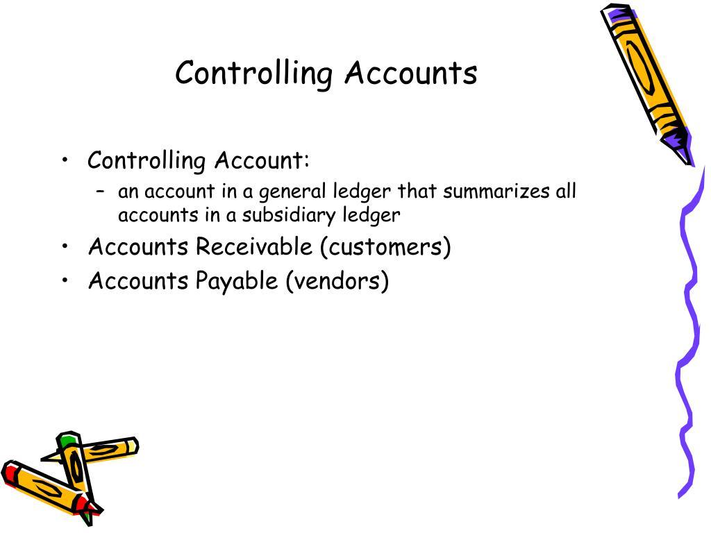 Controlling Accounts