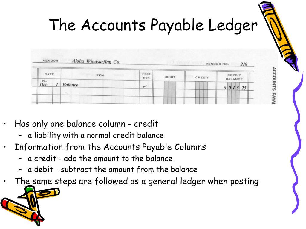 The Accounts Payable Ledger