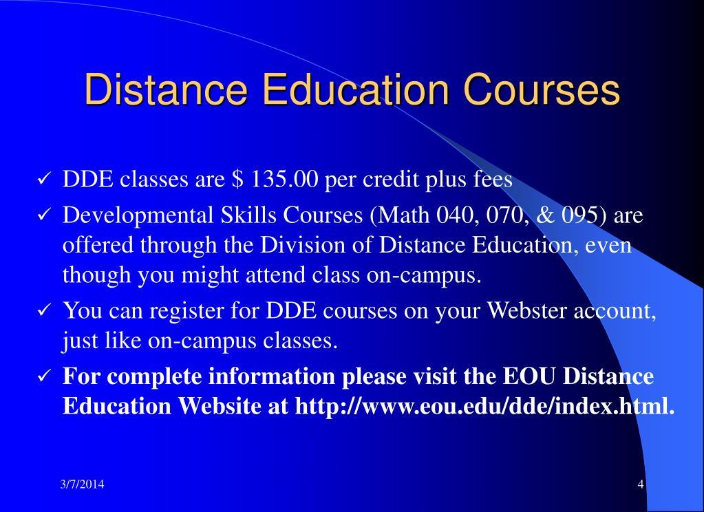 Distance Education Courses
