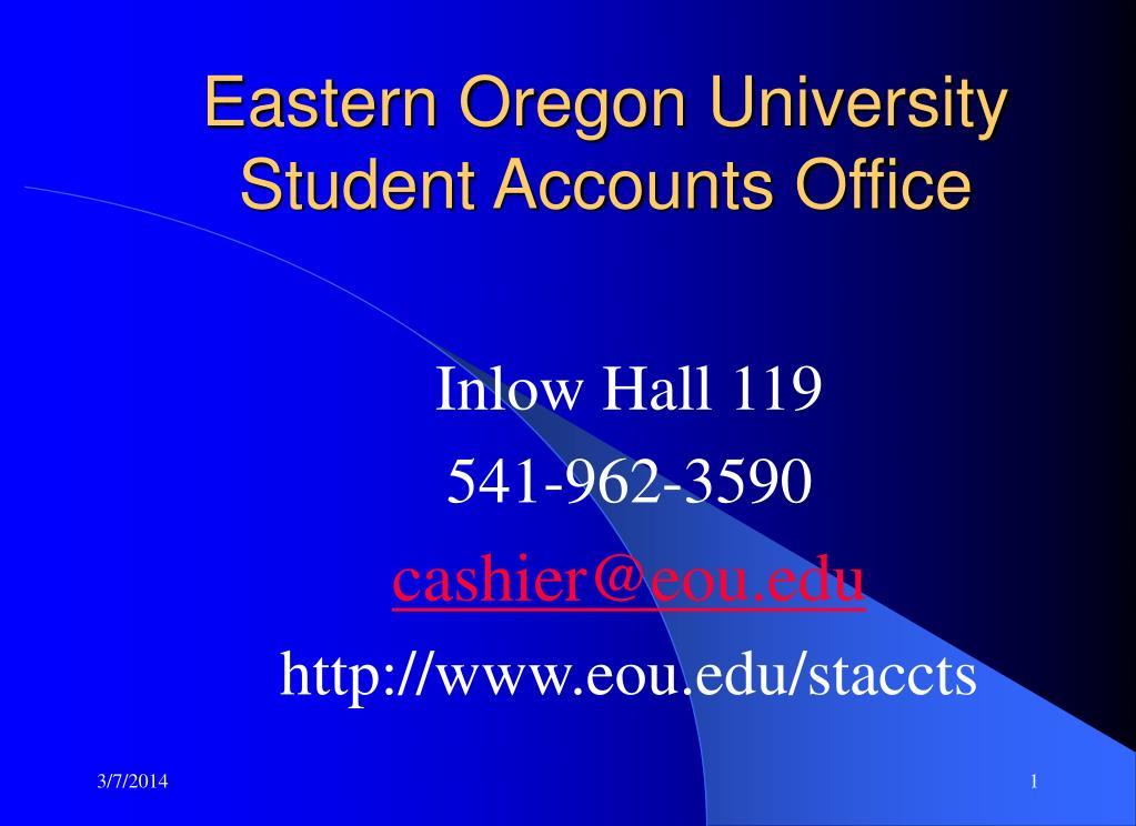 Eastern Oregon University Student Accounts Office