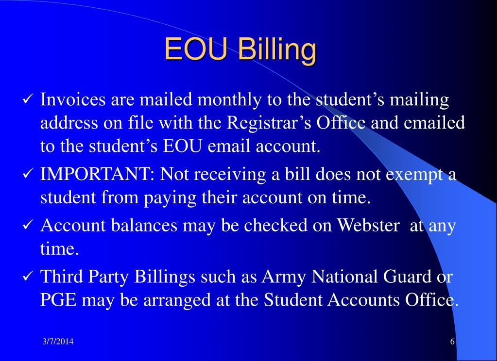 EOU Billing
