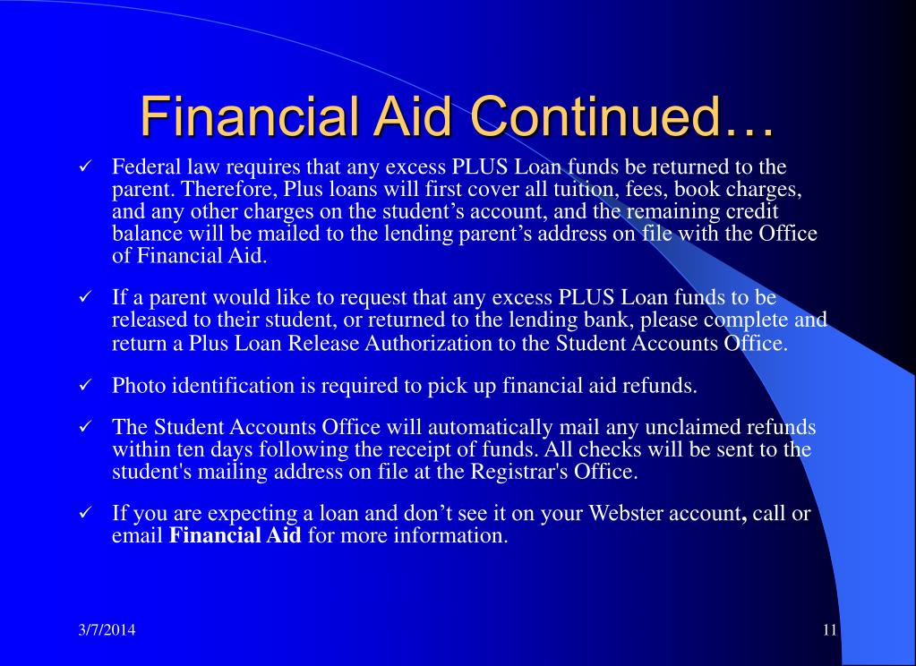 Financial Aid Continued…