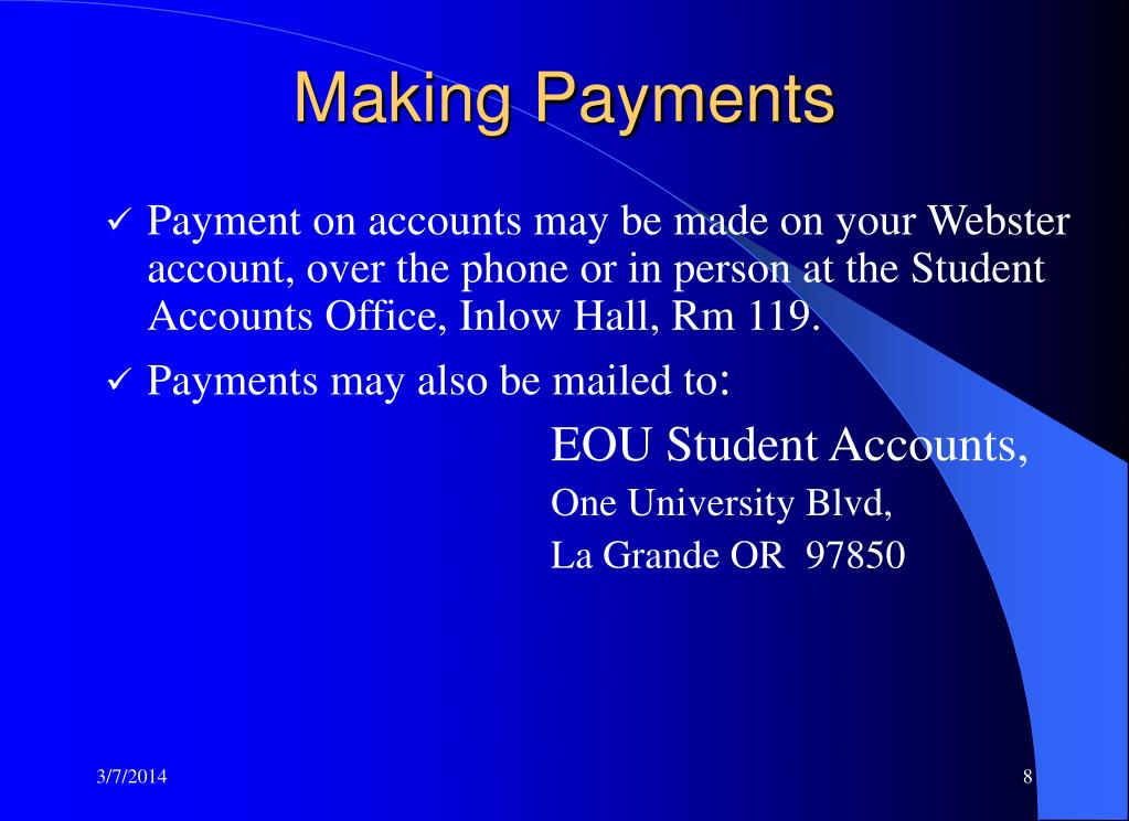 Making Payments