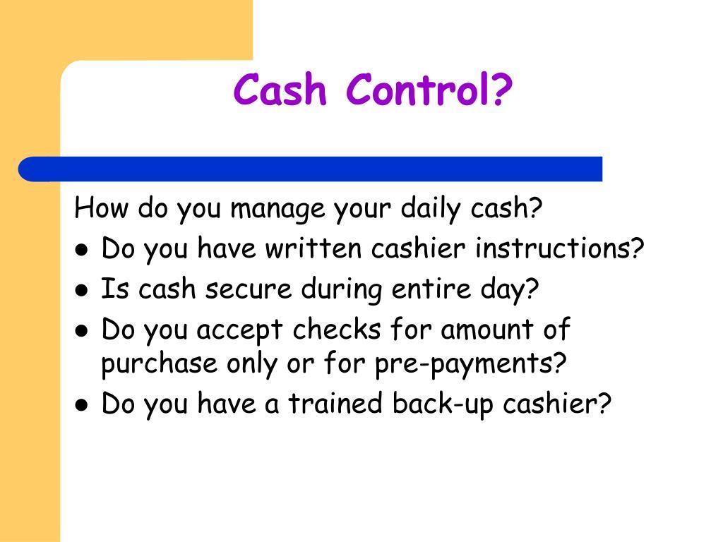 Cash Control?