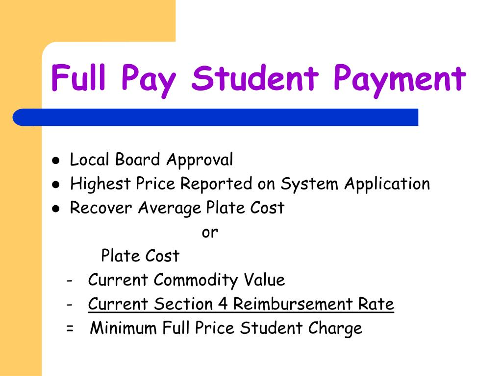 Full Pay Student Payment