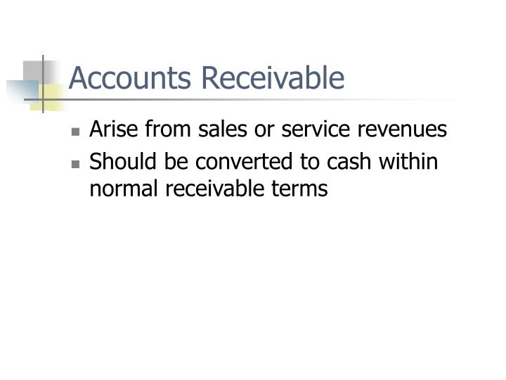 Accounts receivable