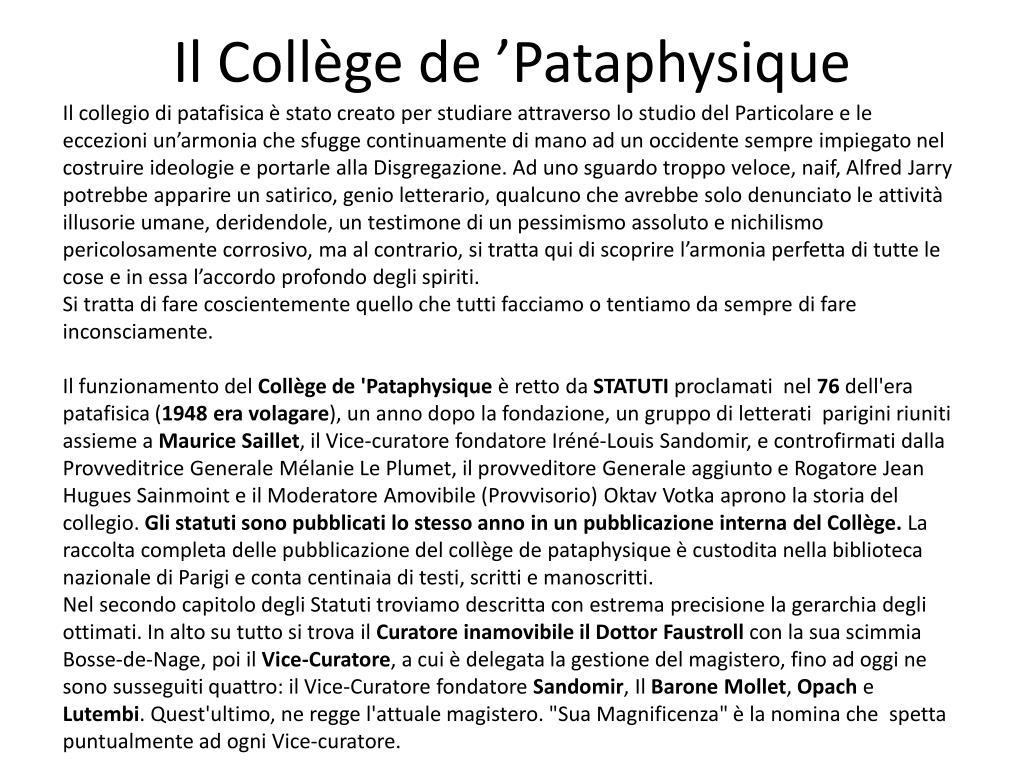 Il Collège de 'Pataphysique