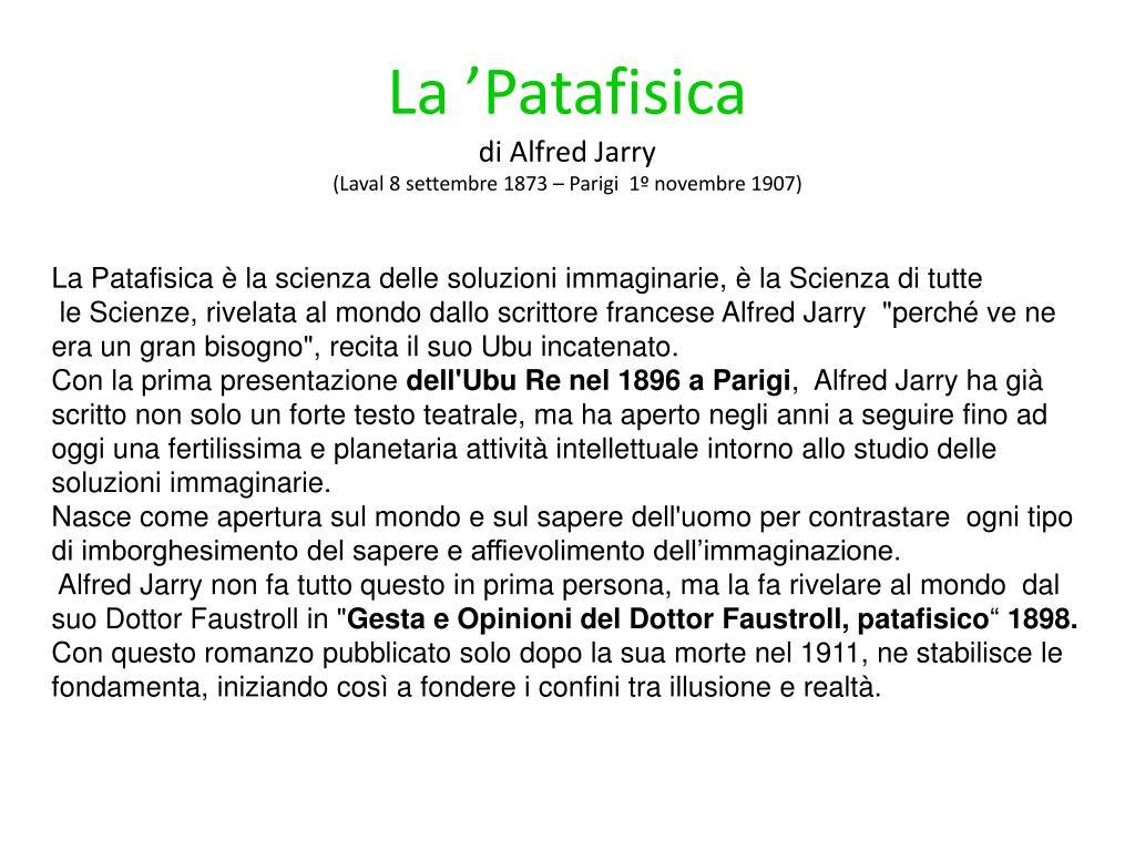 La 'Patafisica