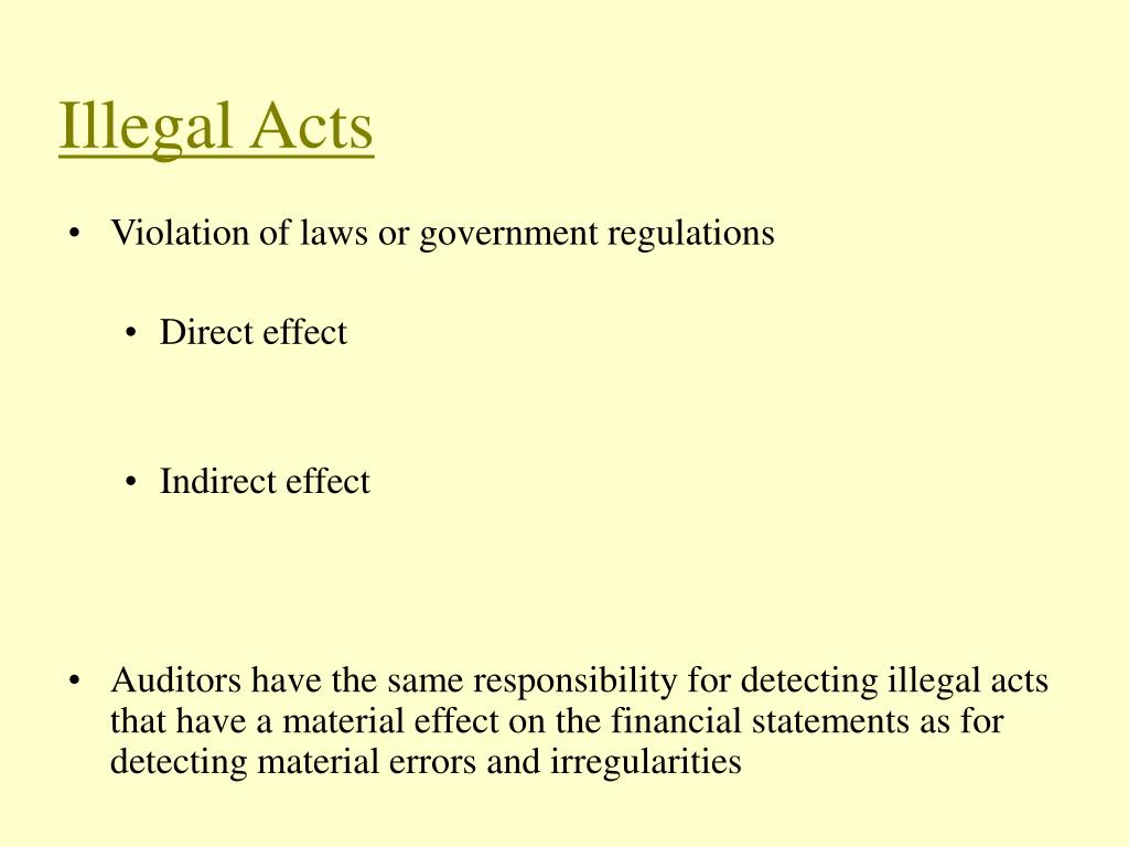 Illegal Acts