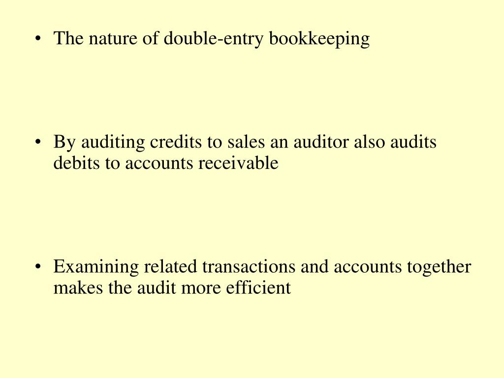 The nature of double-entry bookkeeping