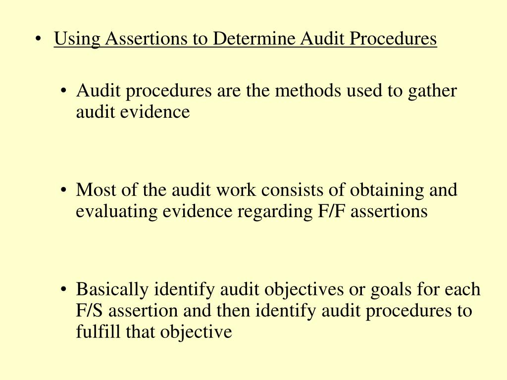Using Assertions to Determine Audit Procedures
