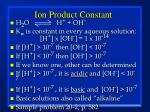 ion product constant