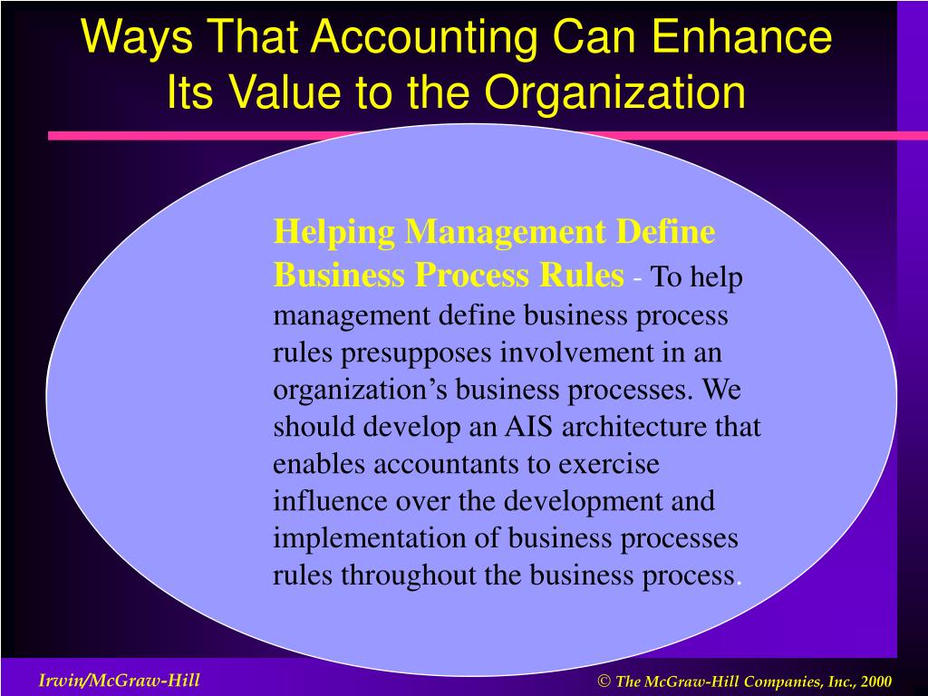 Ways That Accounting Can Enhance Its Value to the Organization