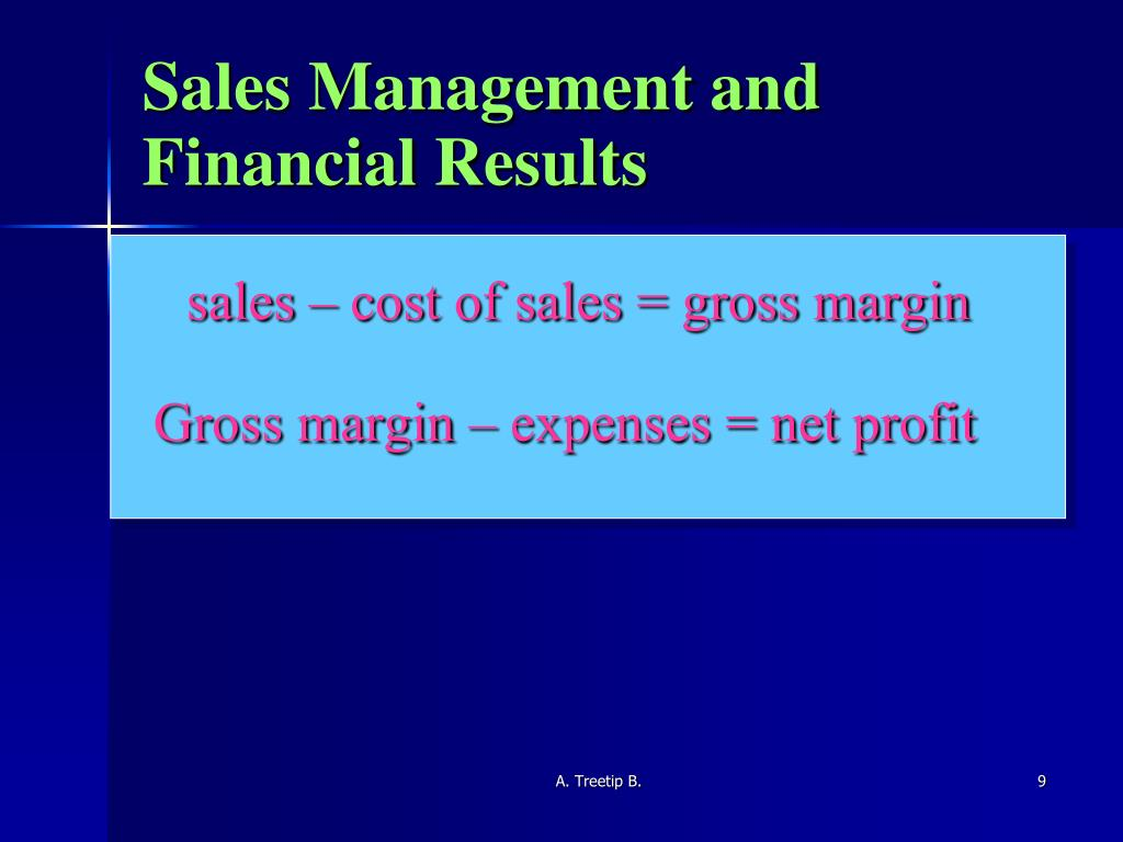 Sales Management and Financial Results
