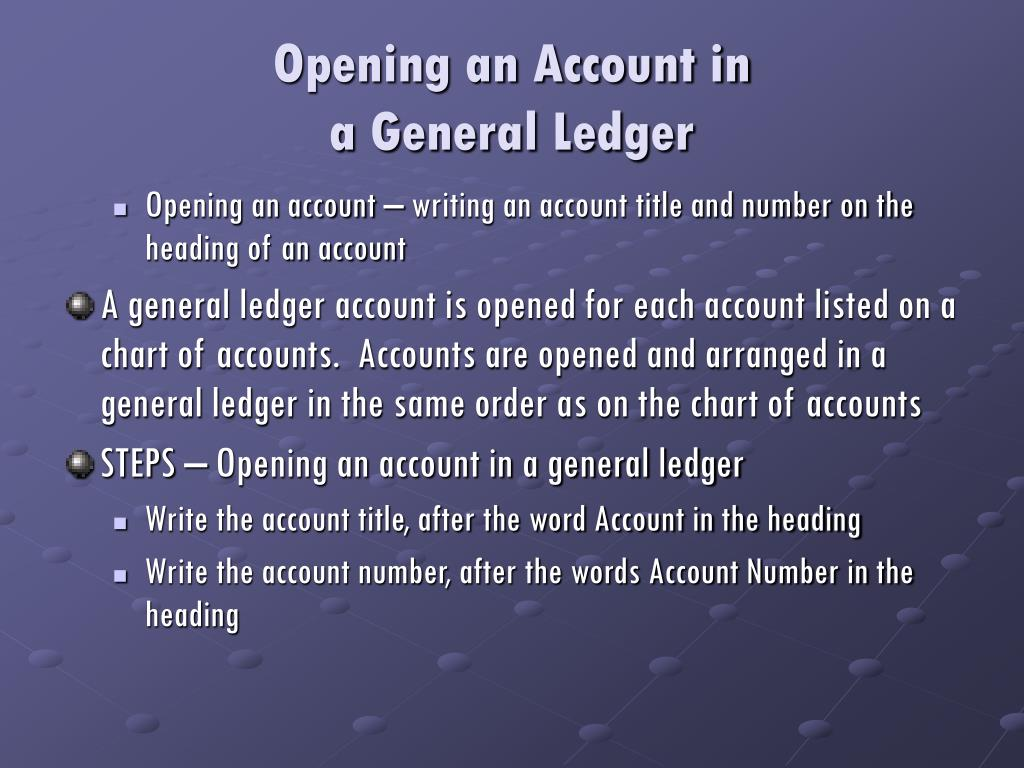 Opening an Account in