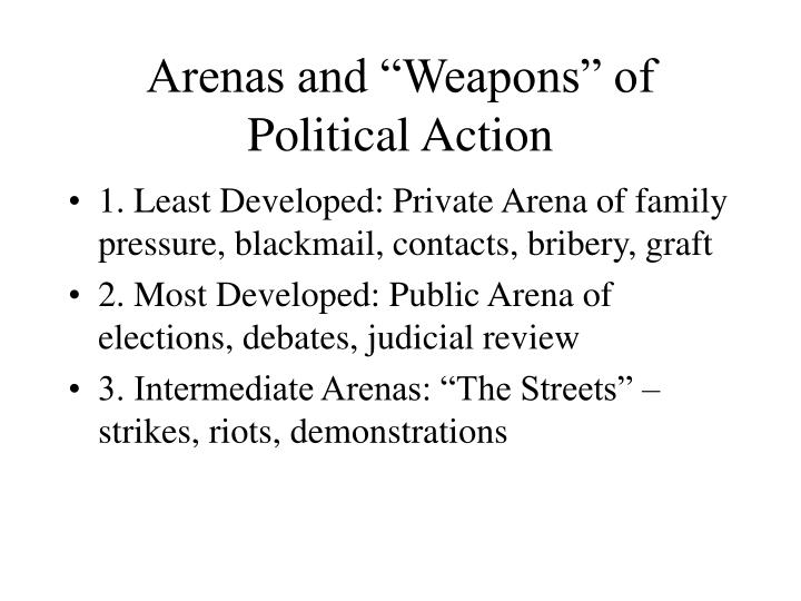 """Arenas and """"Weapons"""" of Political Action"""