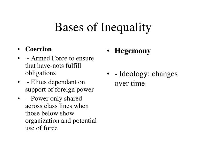 Bases of inequality