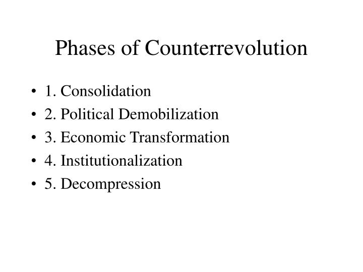 Phases of Counterrevolution