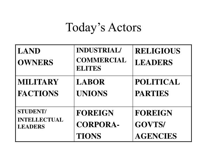 Today's Actors