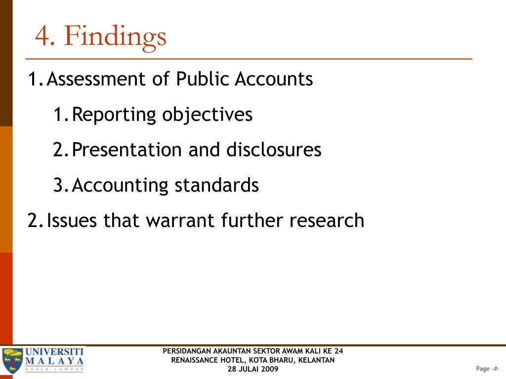 4. Findings