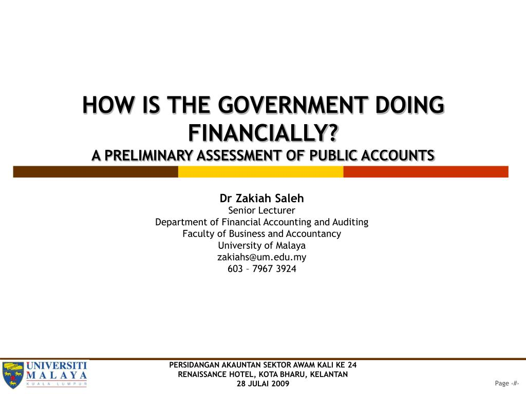 HOW IS THE GOVERNMENT DOING FINANCIALLY?