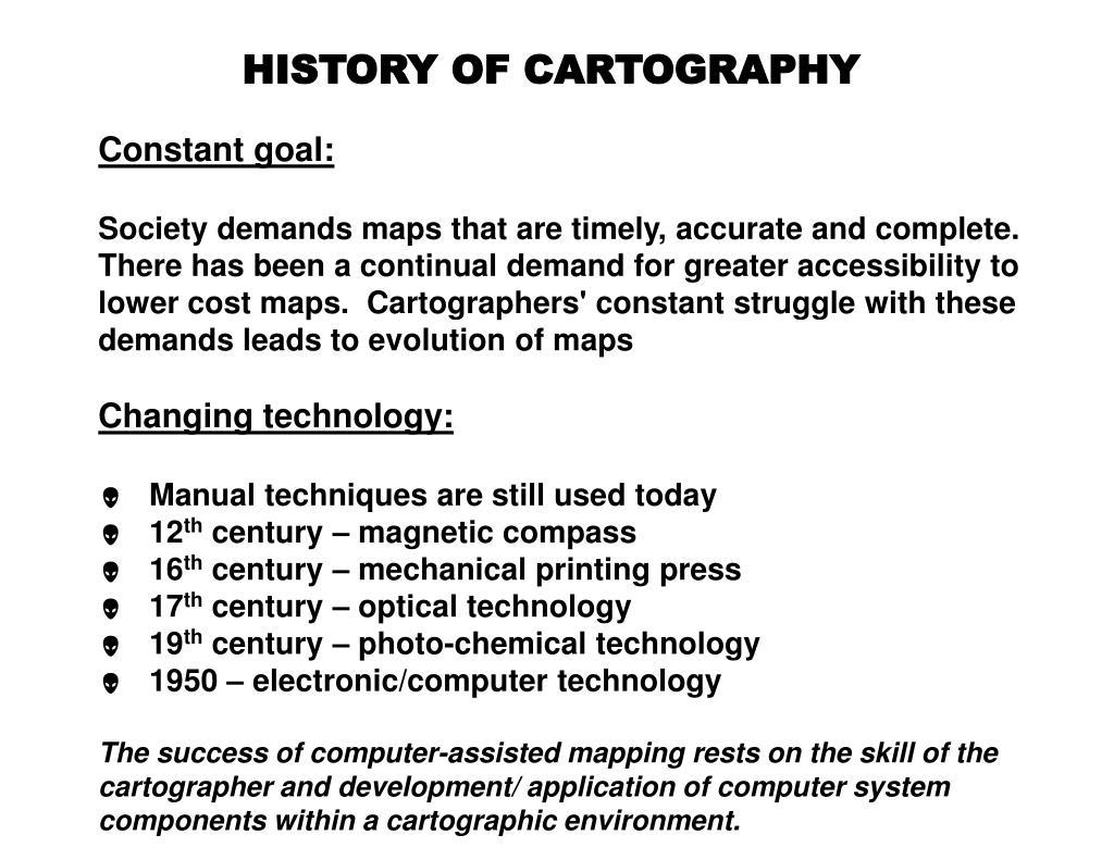 HISTORY OF CARTOGRAPHY