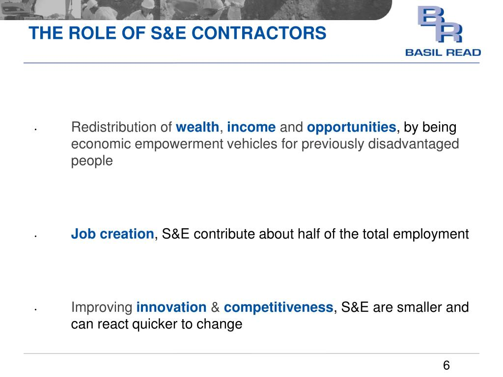 THE ROLE OF S&E CONTRACTORS