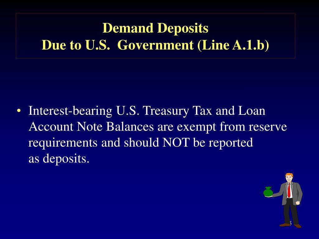 Demand Deposits