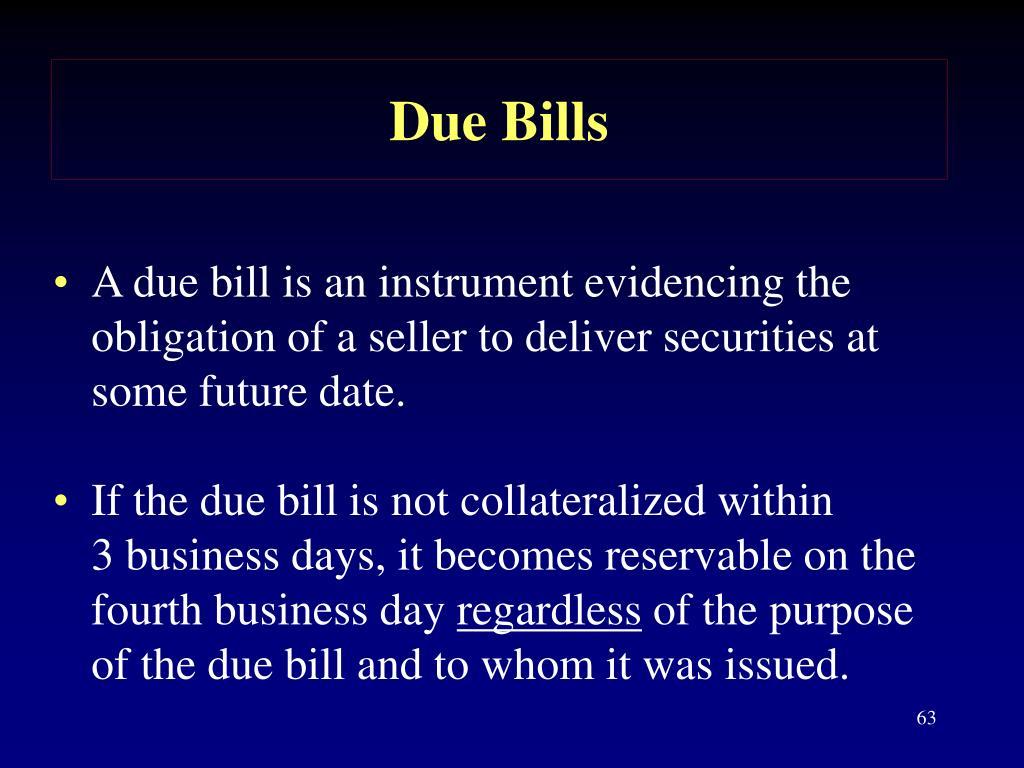 Due Bills