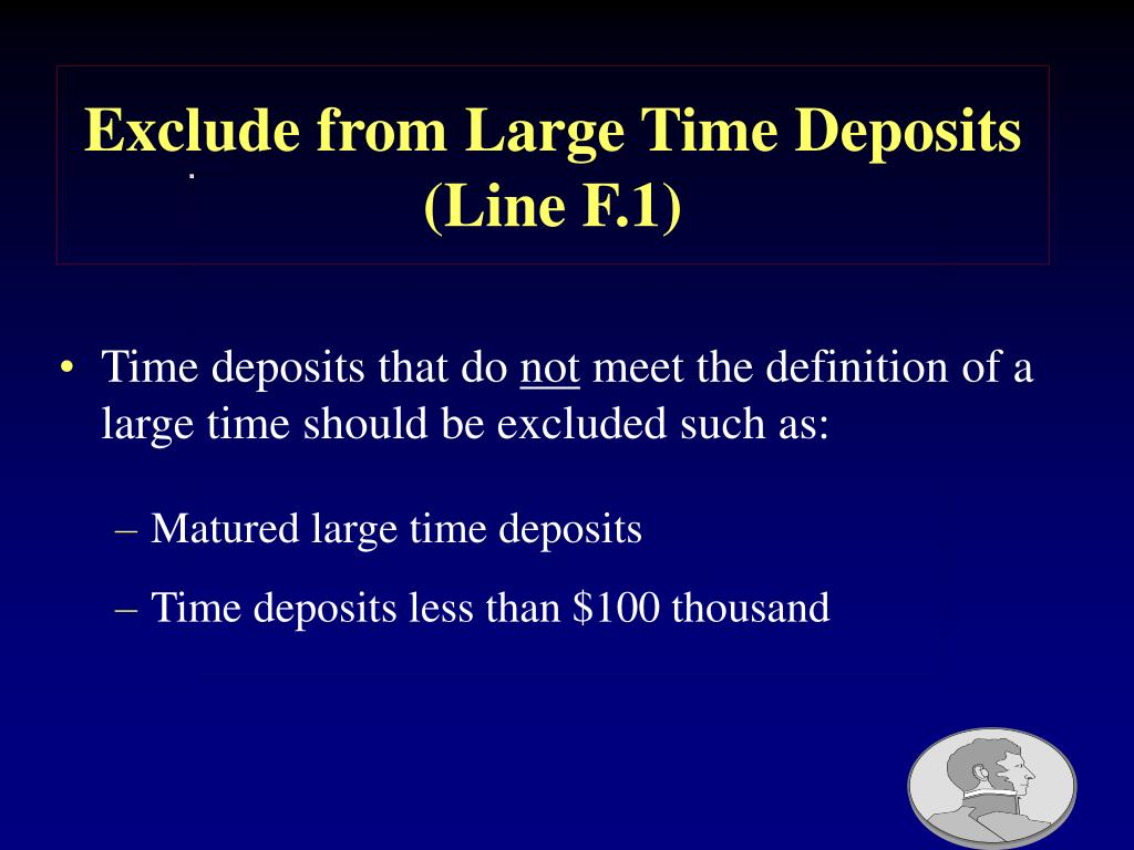 Exclude from Large Time Deposits