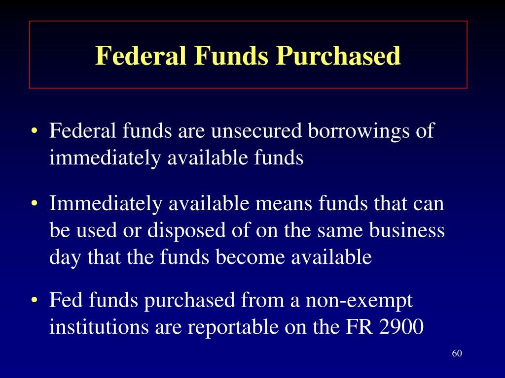 Federal Funds Purchased
