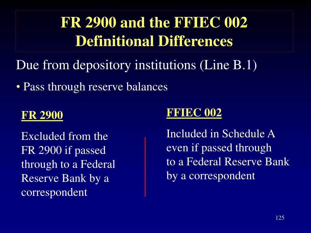 FFIEC 002