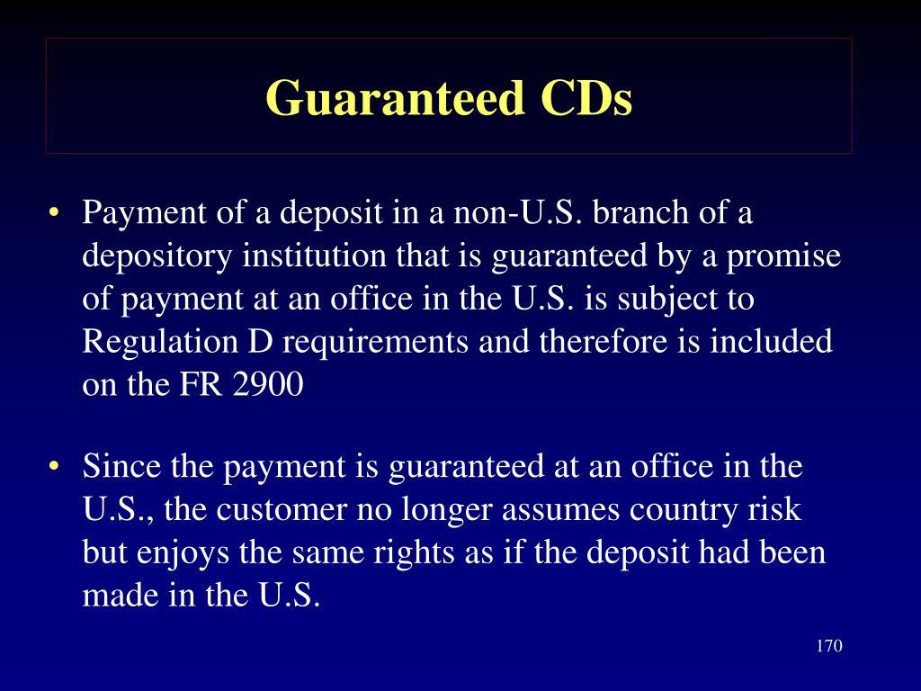 Guaranteed CDs