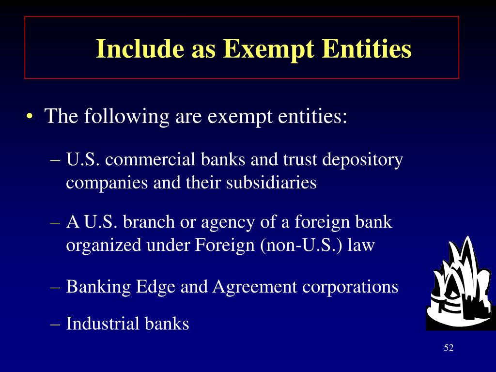 Include as Exempt Entities