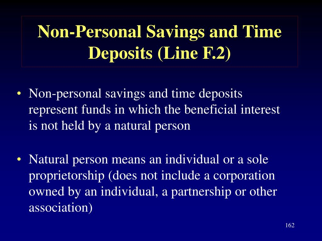 Non-Personal Savings and Time Deposits (Line F.2)