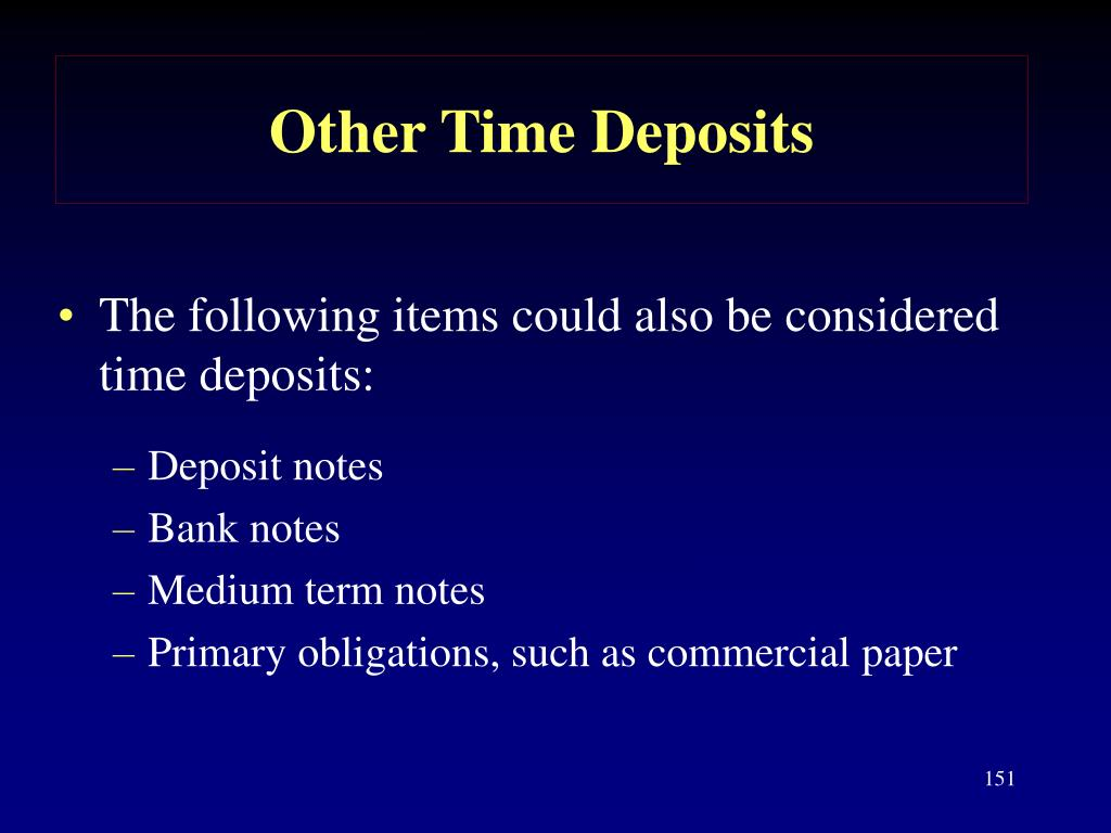 Other Time Deposits