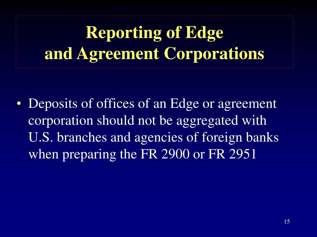 Reporting of Edge