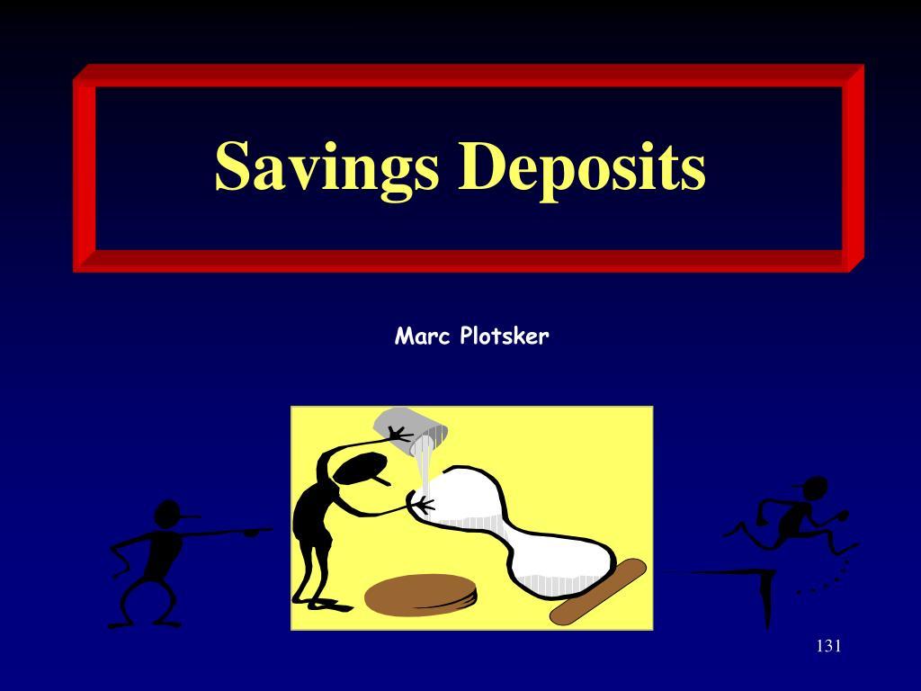 Savings Deposits