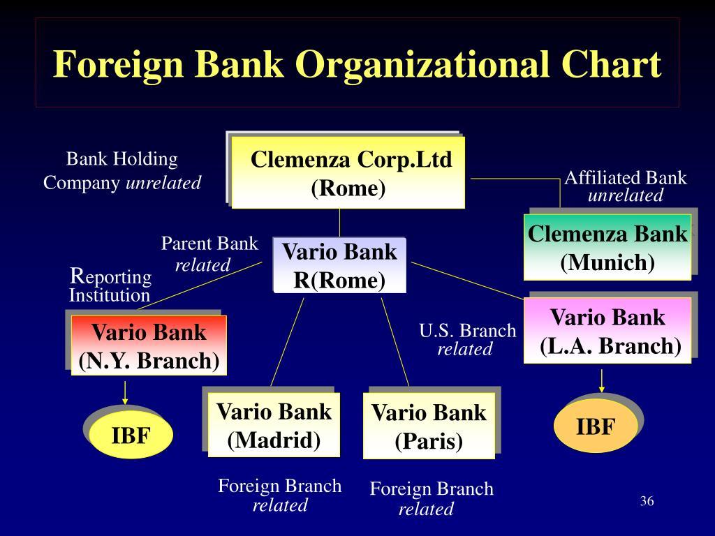 Foreign Bank Organizational Chart