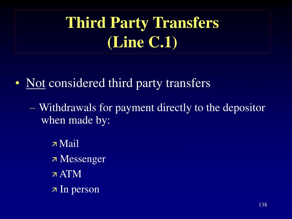 Third Party Transfers