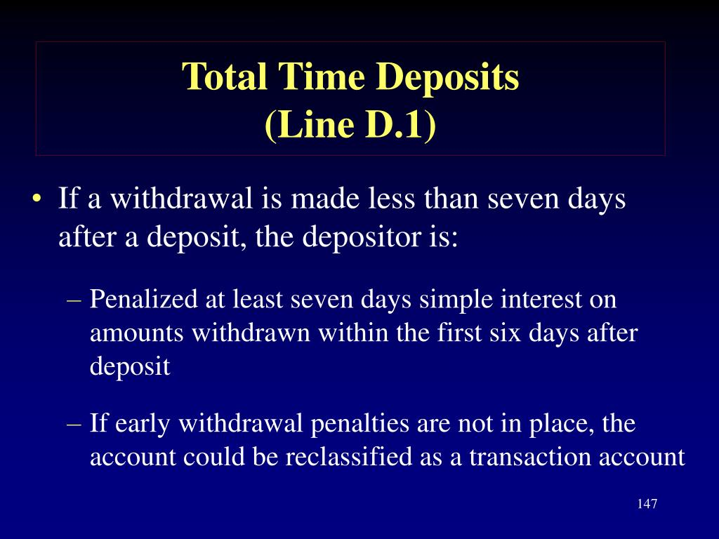 Total Time Deposits