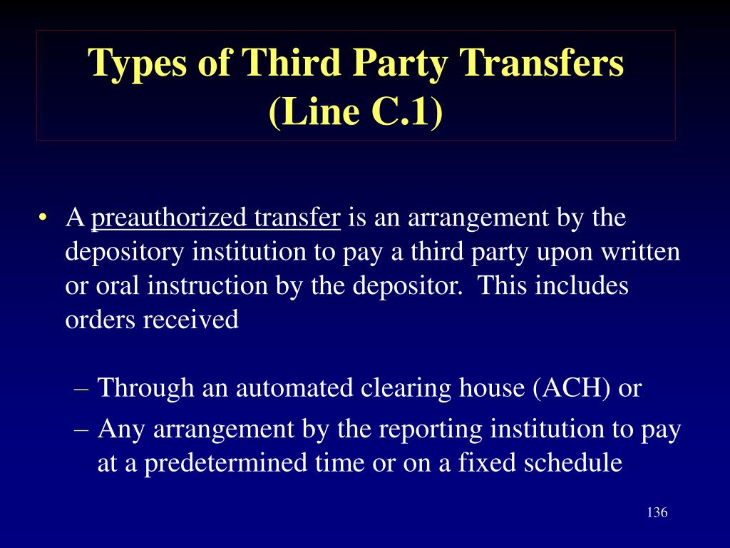 Types of Third Party Transfers