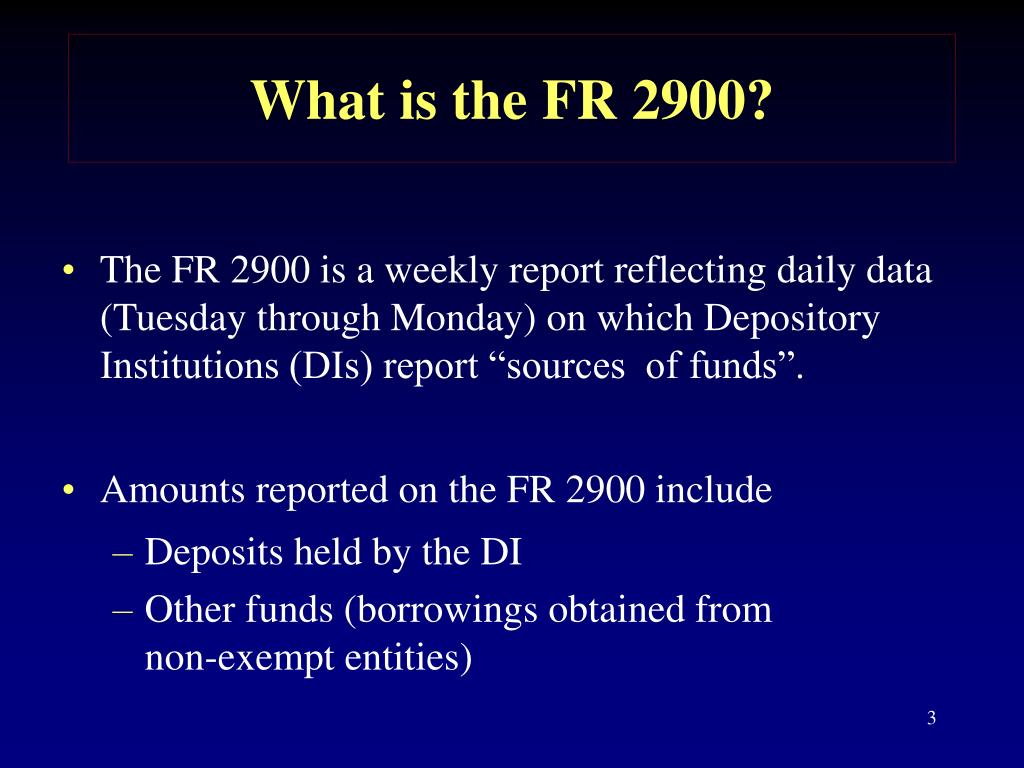 What is the FR 2900?