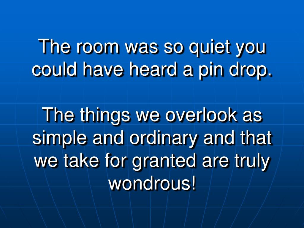 The room was so quiet you could have heard a pin drop.