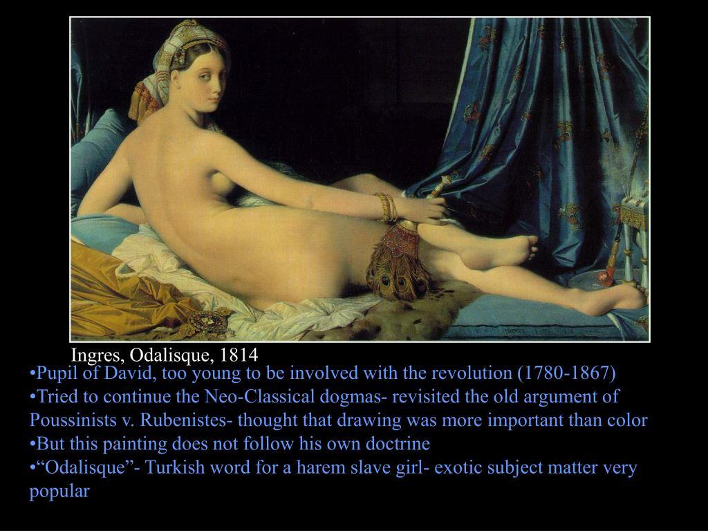 Ingres, Odalisque, 1814
