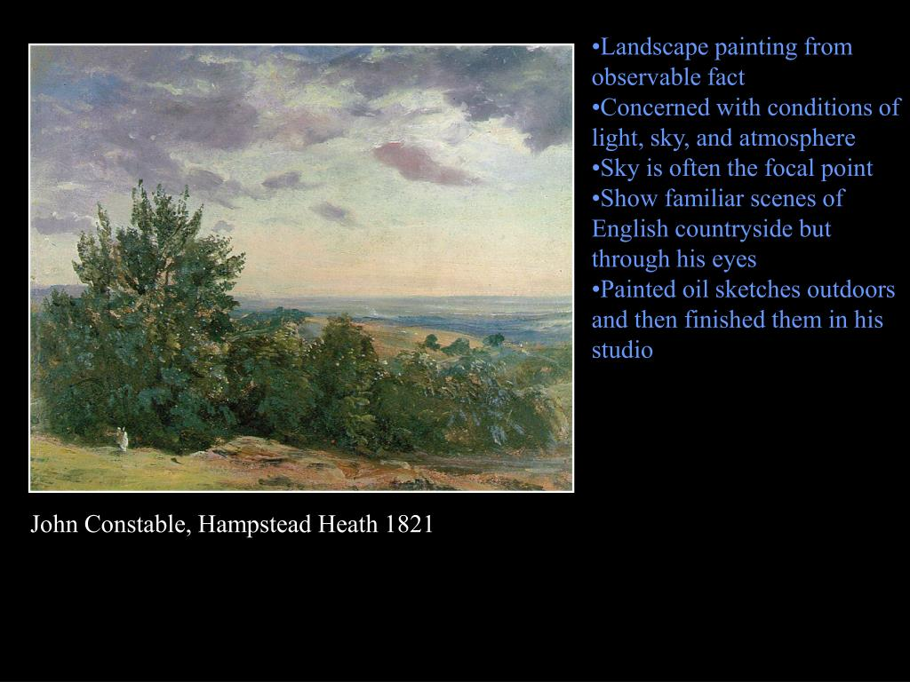 Landscape painting from observable fact