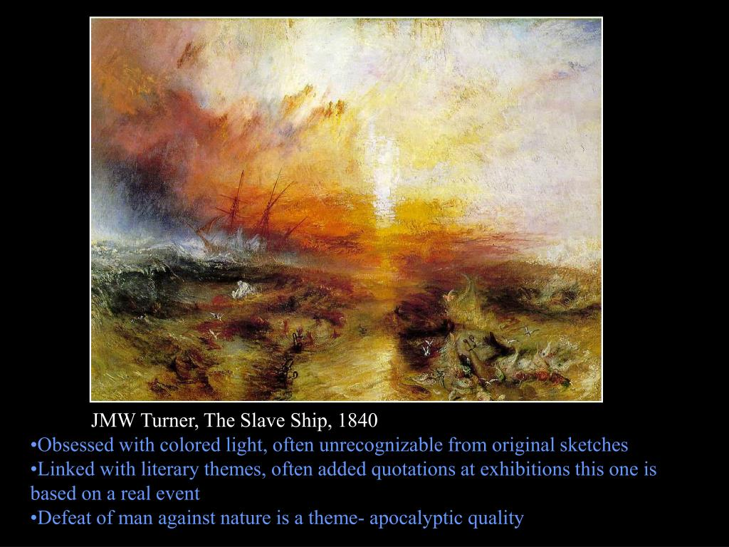 JMW Turner, The Slave Ship, 1840