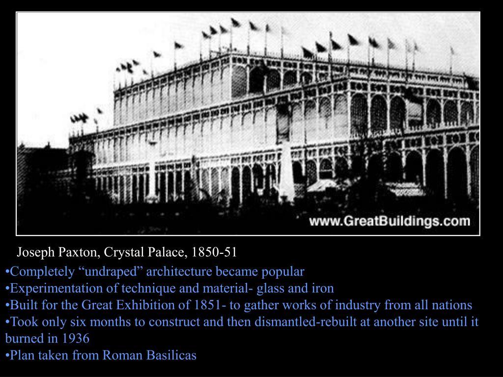 Joseph Paxton, Crystal Palace, 1850-51